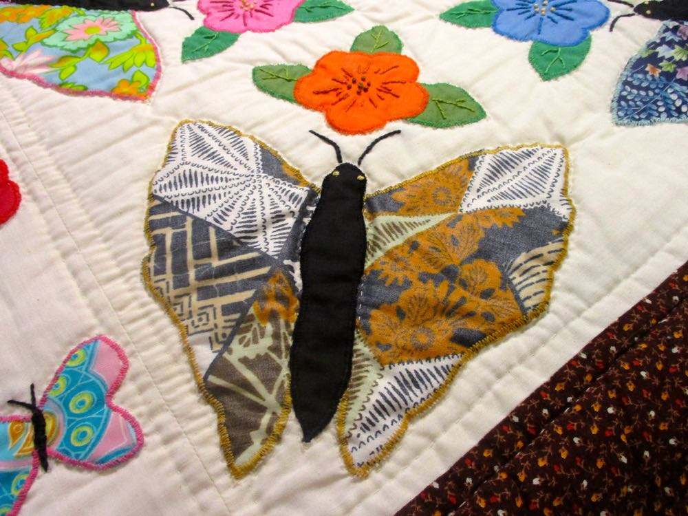 The larger applique butterflies have a basic, easy shape. (Photo by Charlotte Ekker Wiggins)