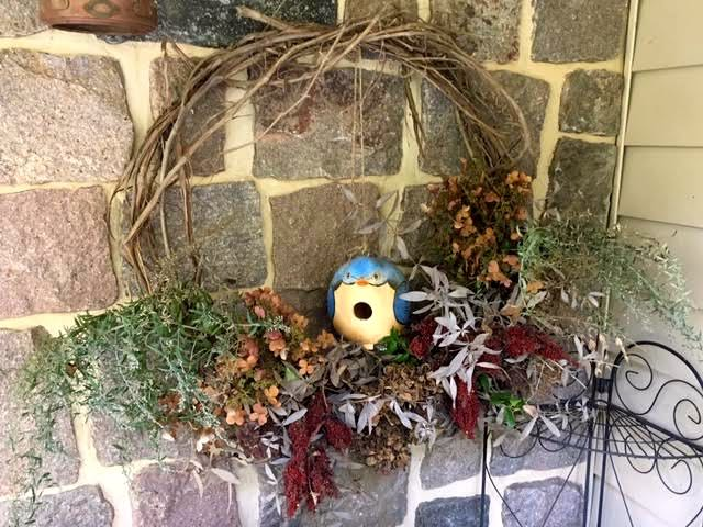 This wild grape vine wreath welcomes visitors to my house. (Photo by Charlotte Ekker Wiggins)