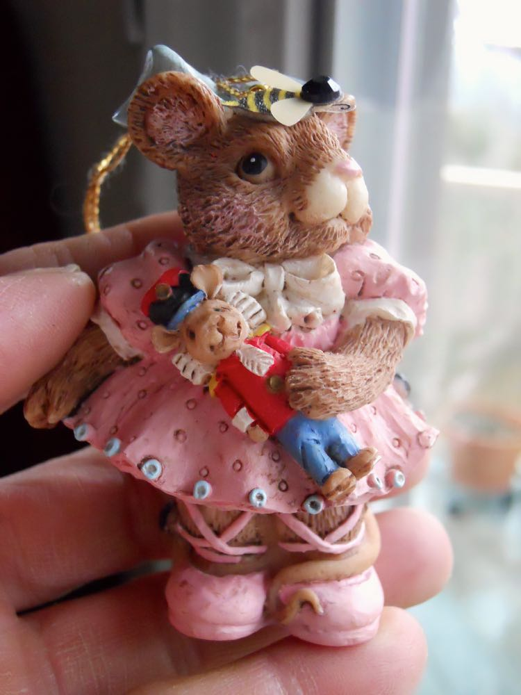 A sweet ballerina mouse ornament personalized for the receiver. (Photo by Charlotte Ekker Wiggins)
