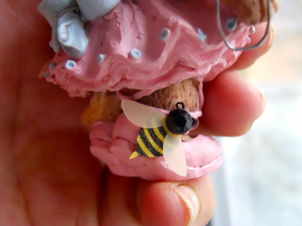 Since three is the charm I added another bee on the foot. (Photo by Charlotte Ekker Wiggins)