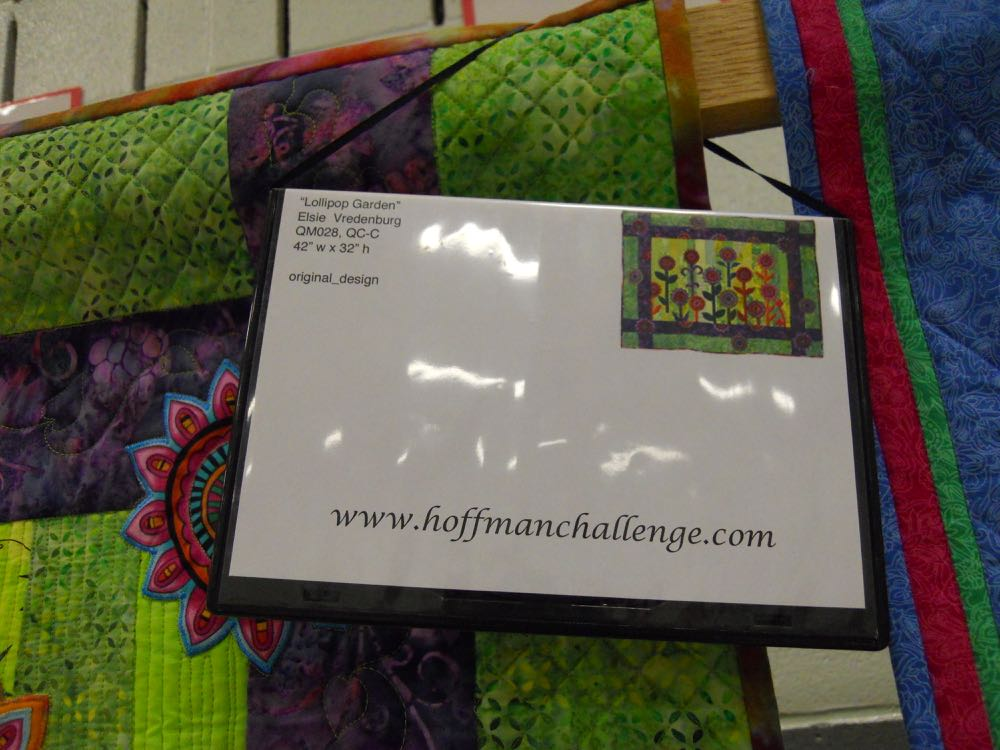 The Hoffman Challenge recognized the best handmade quilts wall hangings and how they incorporated fabrics. (Photo by Charlotte Ekker Wiggins)