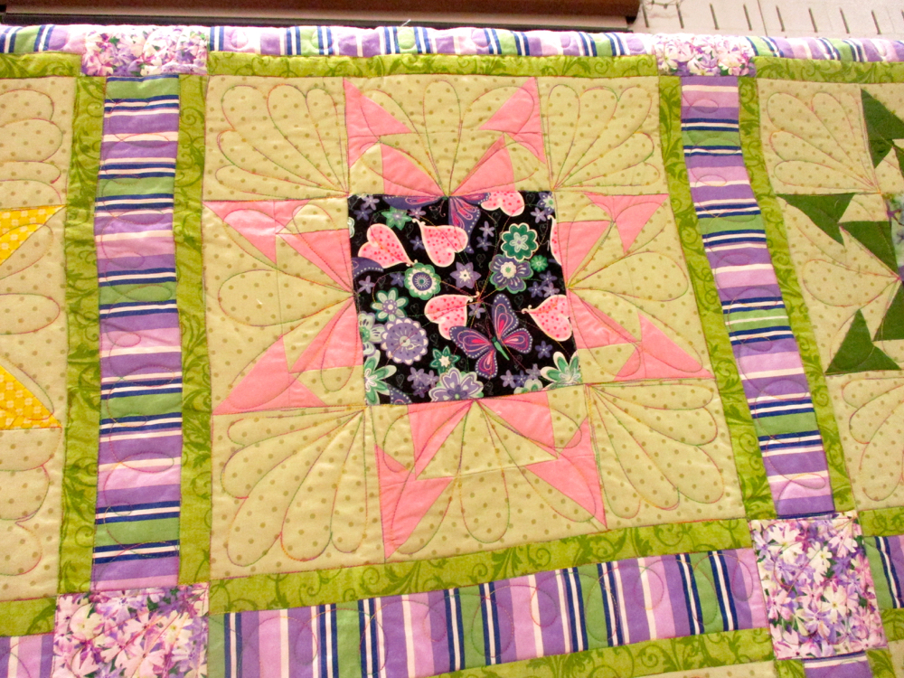 One more quilt block, this one in pink for Wink and a Smile Quilt. (Photo by Charlotte Ekker Wiggins)