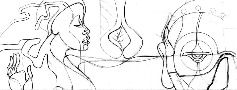 She Bears His Mask... Sketch