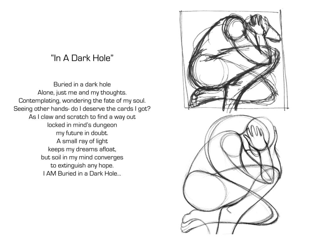 In A Dark Hole Sketch