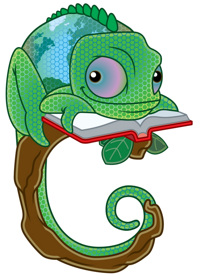 Chameleon Learning Logo Design