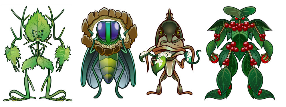 Invasive Species Character Illustrations
