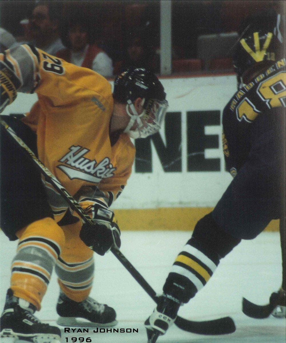 #29 Riley Nelson (MTU) and #18 John Madden (Mich) at the 1996 GLI (Photo credit: Ryan Johnson)