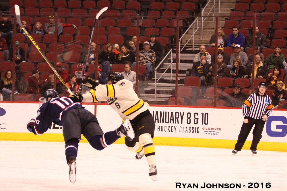 Michigan Tech skater Dylan Steman was a recruit from the Upper Midwest Elite League (Photo credit: Ryan Johnson).