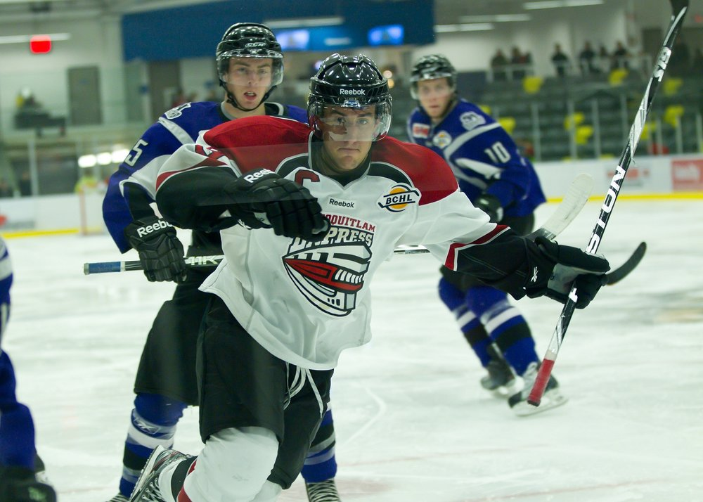 Former Husky Alex Petan was once a top-ten scorer in the BCHL, playing for the Burnaby/Coquitlam Express (the team relocated while he was there) before joining Michigan Tech (Photo credit: Jack Murray).