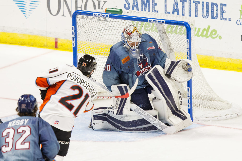 Jamie Phillips is an ECHL All-Star for the Tulsa Oilers (Photo Courtesy of TeeJay Crawford Photography)