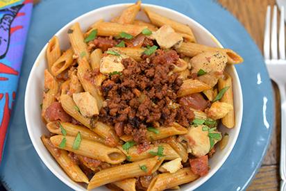 Chicken Chipotle and Chorizo Pasta