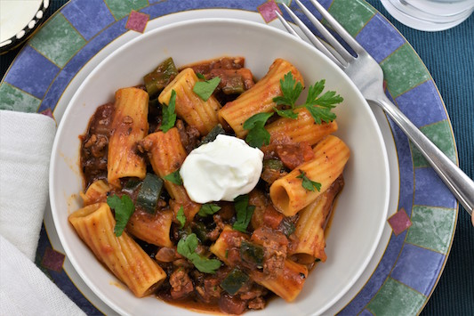 'Ghoul-ash' with Rigatoni