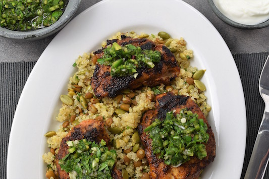 Argentine Grilled Chicken and Chimichurri with Lentil & Quinoa Medley