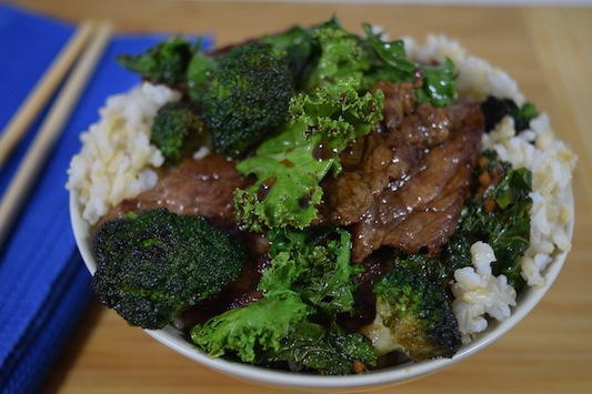 Beef with Broccoli and Kale