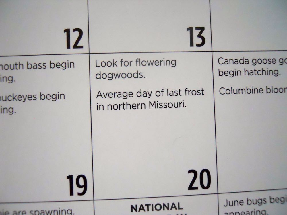 Missouri Department of Conservation Natural Events calendar includes daily event listings.