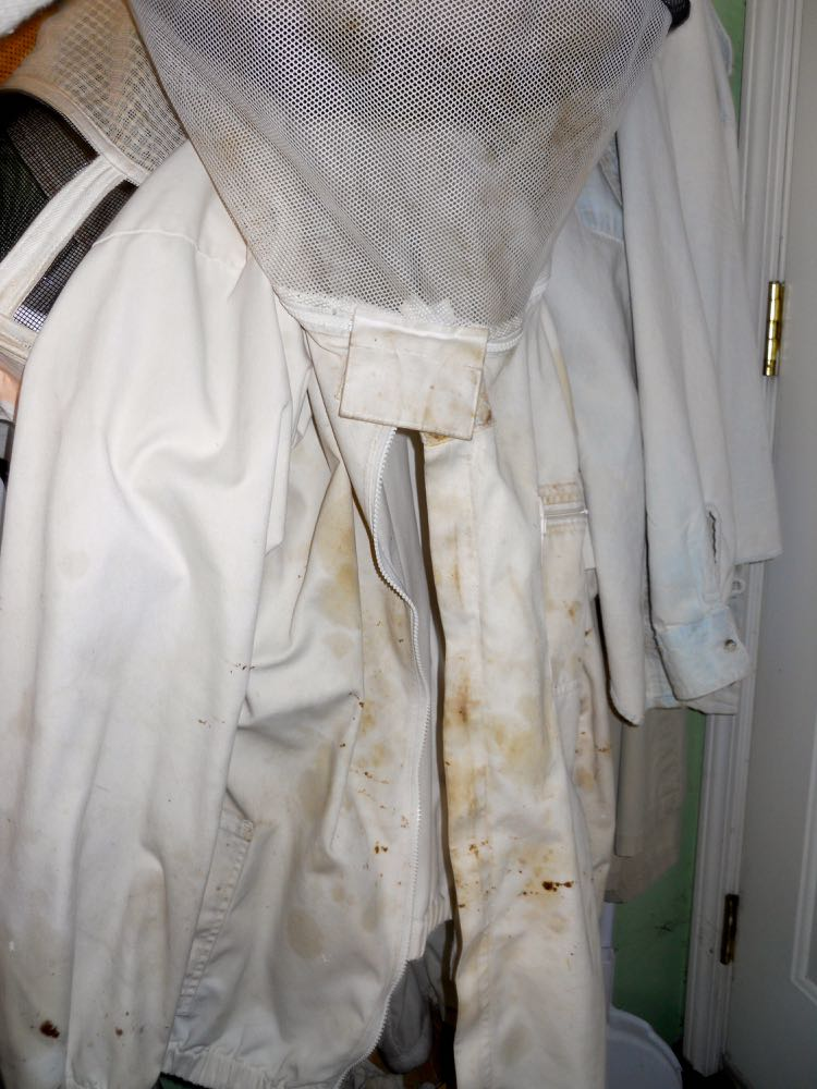 My first ever beekeeping suit has definitely seen better days and is ready to be replaced.