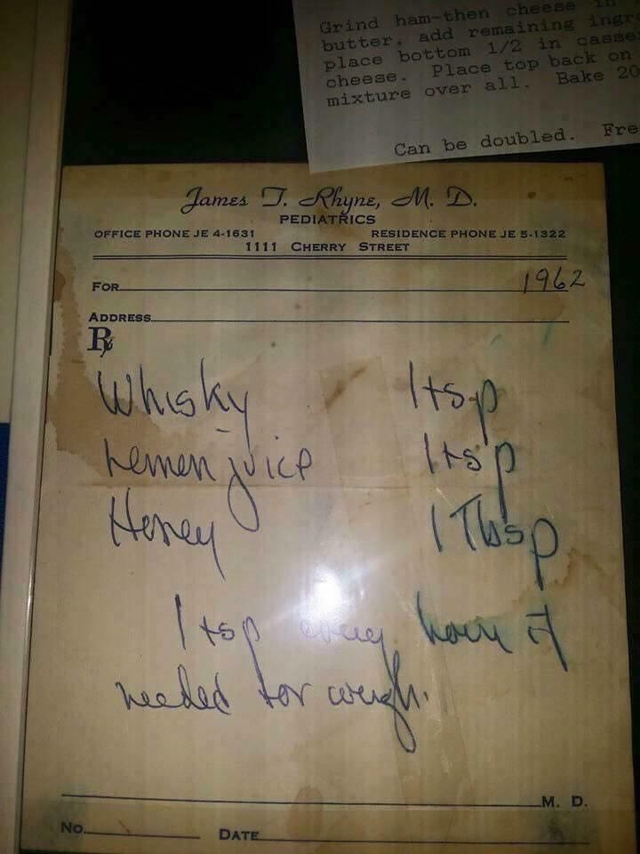 An old prescription for a cough medicine recipe with honey that still works today!