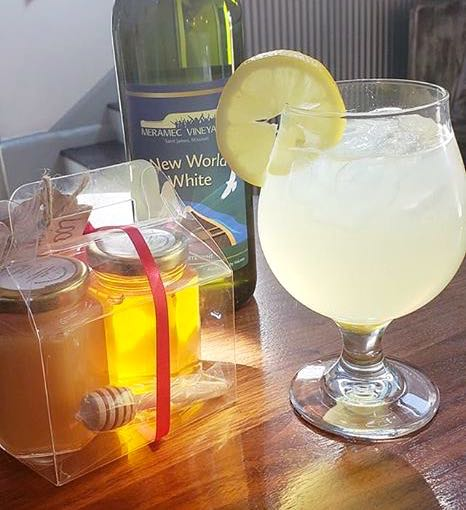 Meramec Vineyards, St.James, used my honey for one of their unique sangria drinks. (Photo by Meramec Vineyards)