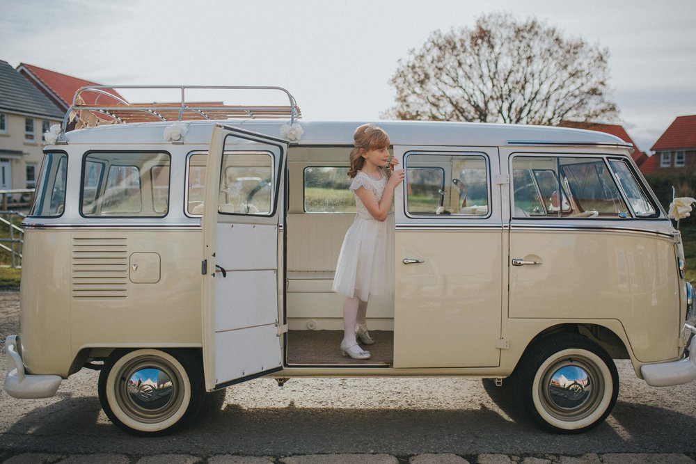 A Little Picture Wedding Photography bridesmaid camper van