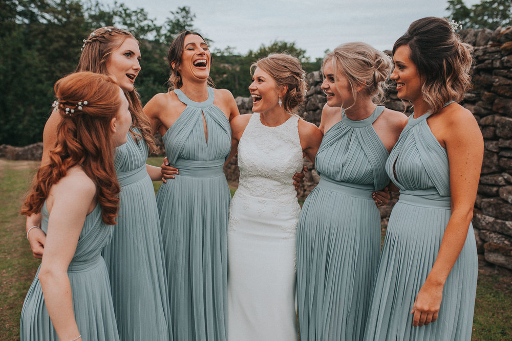bridesmaids wedding bride