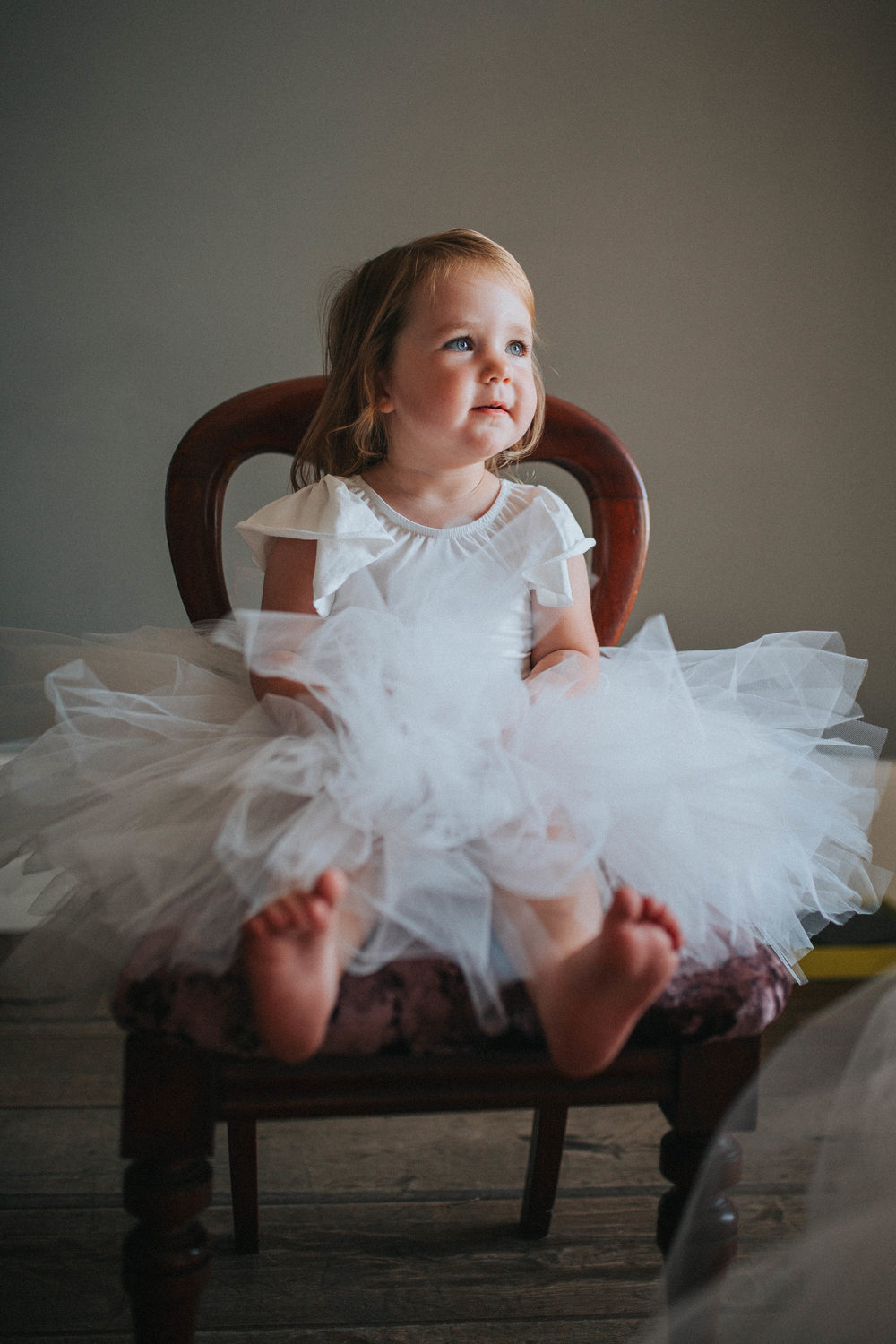 natural wedding photography york yorkshire flowergirl cute