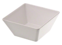 MEDIUM Melamine Bowls   7 inch square bowl, 58 ounce  $3.25 per bowl (8 available)