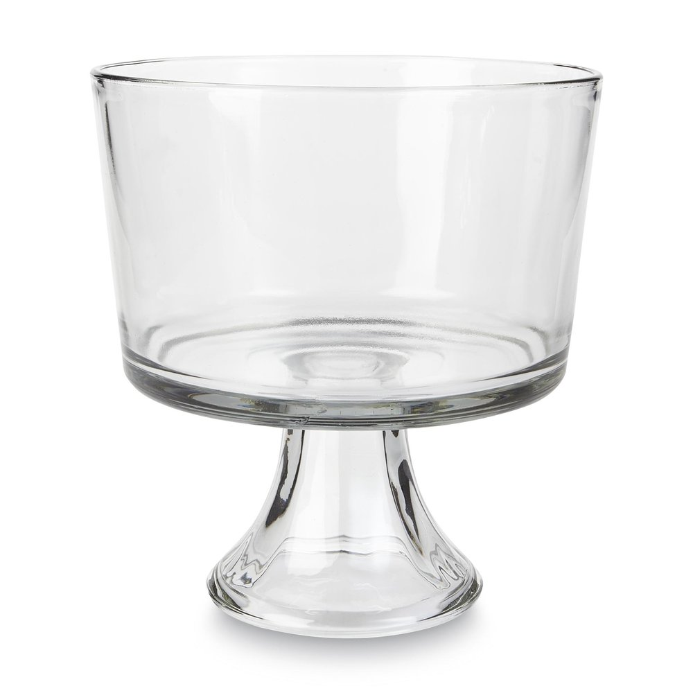 trifle bowl   96 ounce clear glass trifle bowl  $3.50