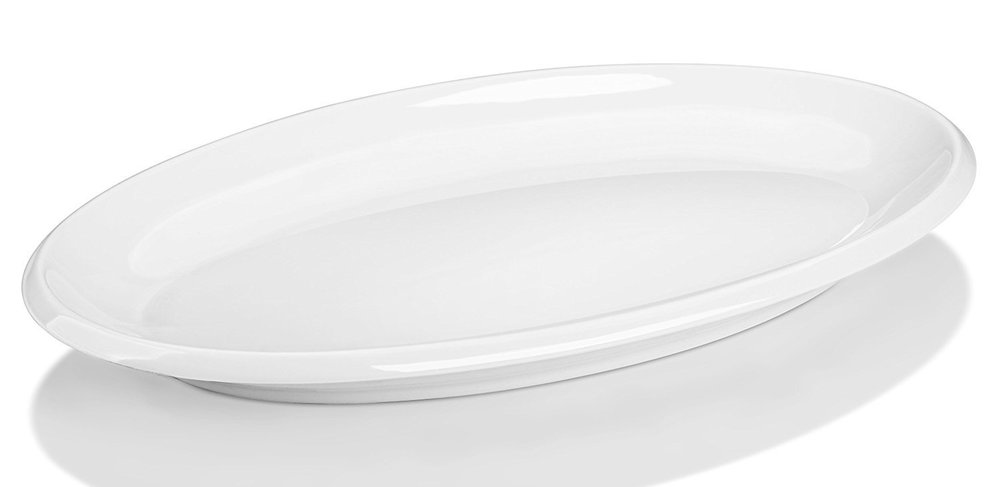 "14"" Porcelain Oval Serving Platter  $0.00 (10 available)"