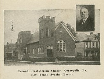 Second Presbyterian Church and Rev Frank Svacha, Pastor.jpg
