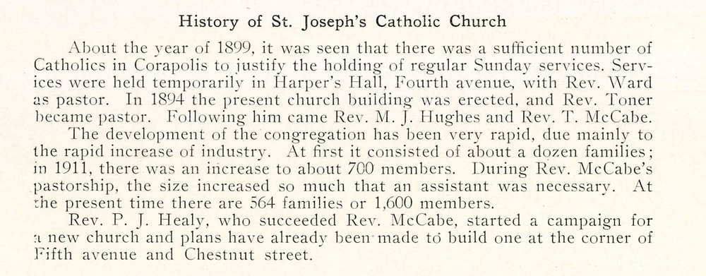 St Joseph's Catholic Church - 1924 Coraopolis HS Review (105).jpg