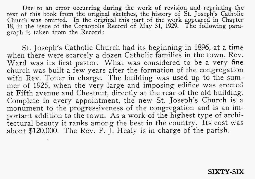 St Joseph's Catholic Church - Edward S Maurey - Where the West Began (pg66).jpg