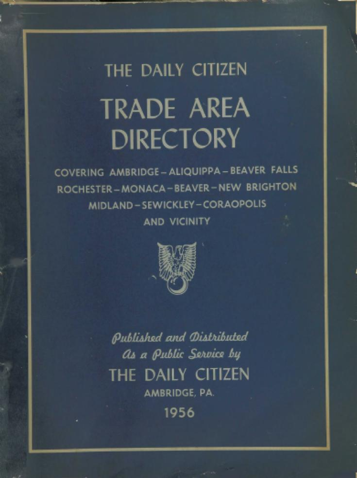 The Daily Citizen 1956 Trade Area Directory COVER.jpg