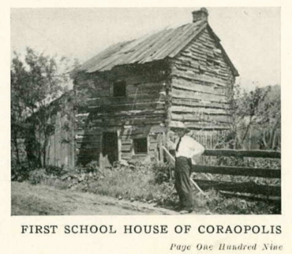 First School House of Coraopolis (Main St) - 1924 Coraopolis HS Review.jpg