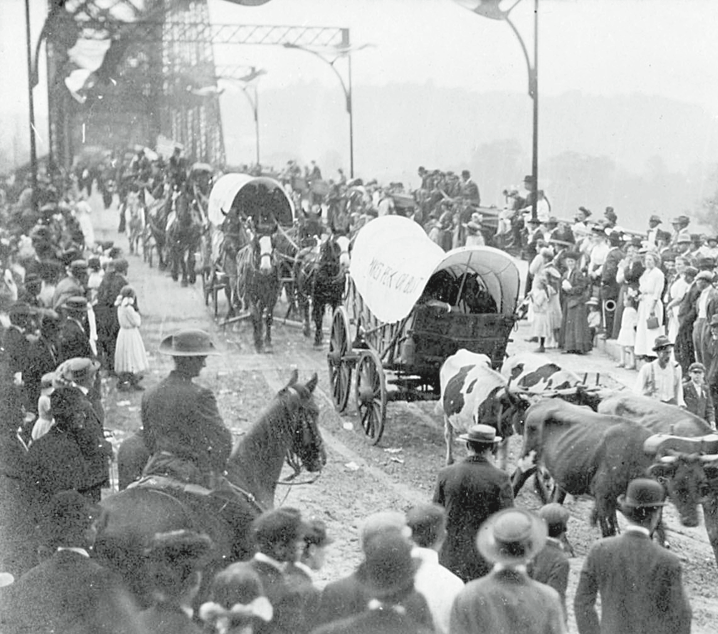 Opening of the Coraopolis-Sewickley Bridge Sep 19, 1911 (Moon Township Historical Society)