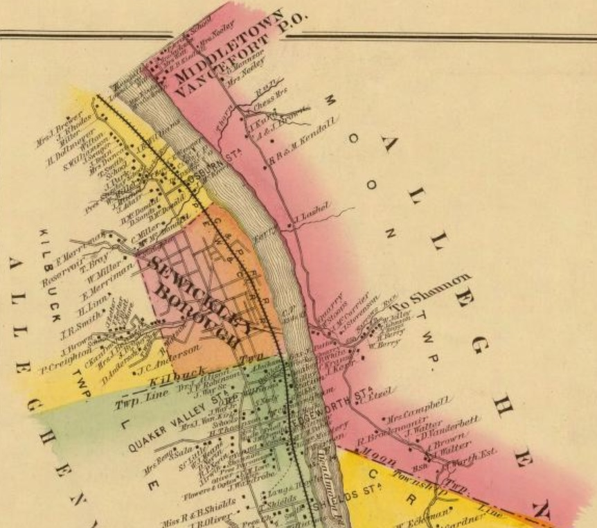 Maps Coraopolis History Archive - Map of western pa