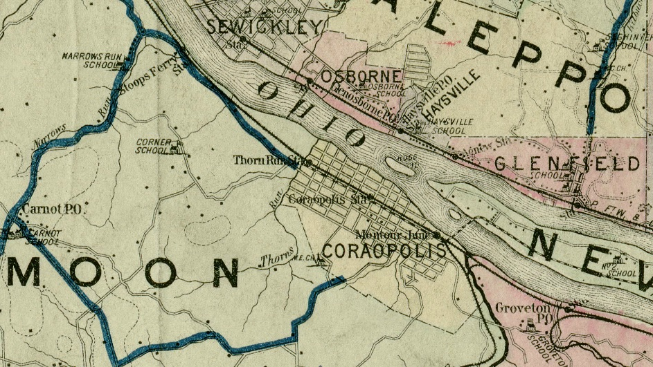 Maps Coraopolis History Archive - Topographical map of pa