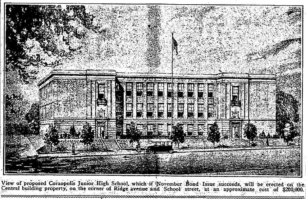 1923-10-12 The Coraopolis Record - Proposed Jr High School.png