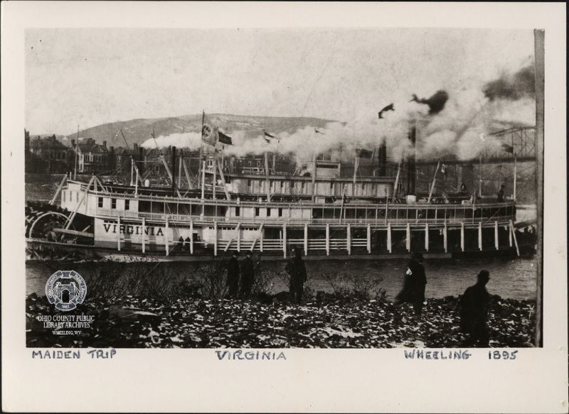 The  Virginia  Riverboat, 1895 in Wheeling