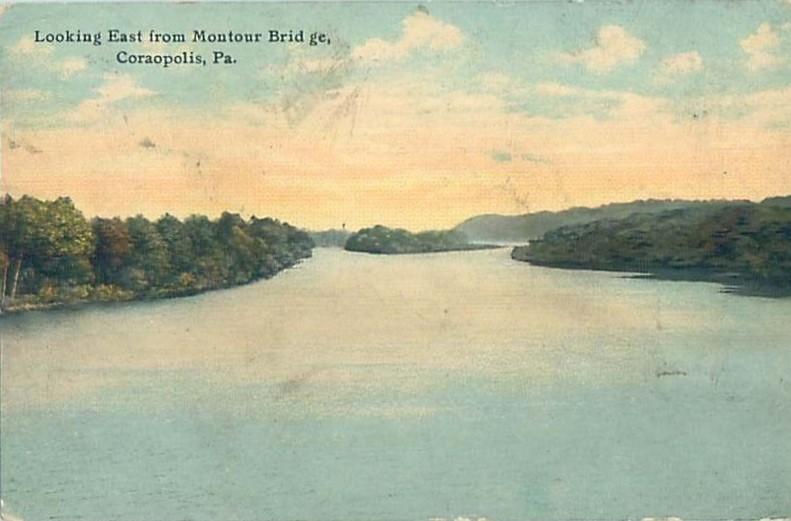 Looking East from Montour Bridge 1915.jpg