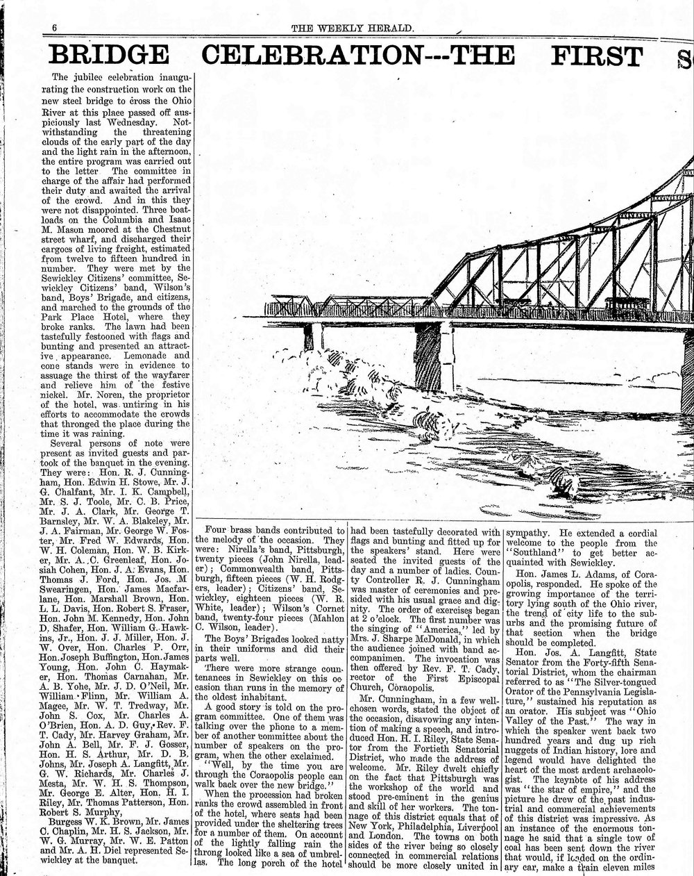 1909-07-24 The Weekly Herald (Sewickley Herald) - Bridge Celebration (pg6).jpg