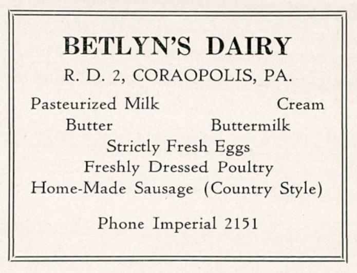 1943 Coraopolis HS Yearbook p. 74