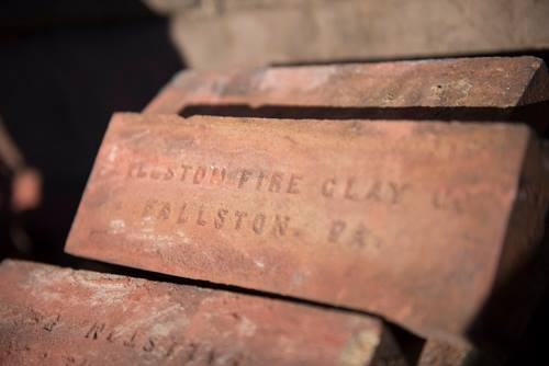 Bricks used in the construction of the Coraopolis Train Station