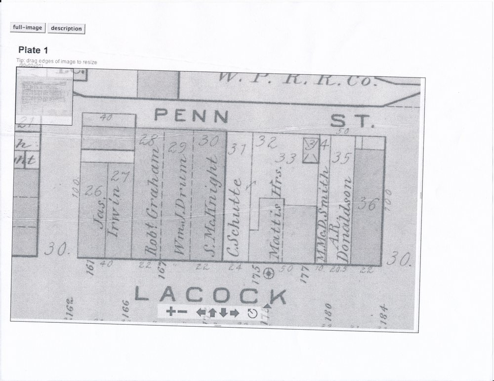 Business Location Map, Allegheny City, PHLF Vertical File