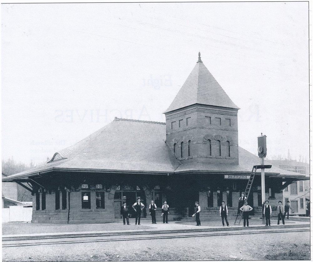 1890s Coraopolis Passenger Train Station - PLERR - late 1800s.jpg