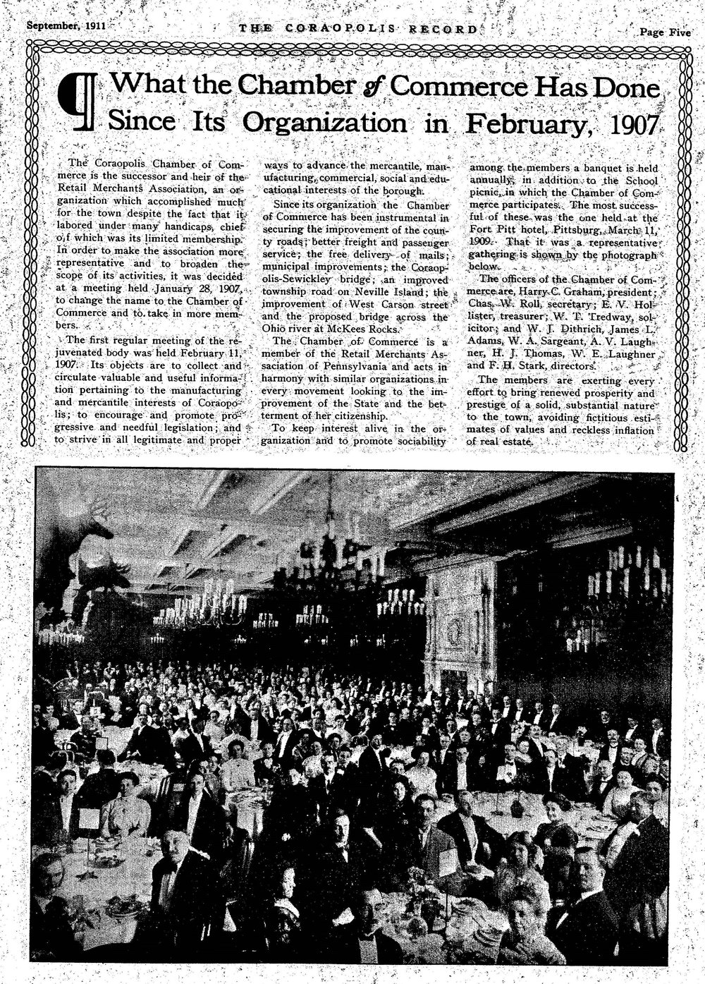1911-09-15 The Coraopolis Record, page 5