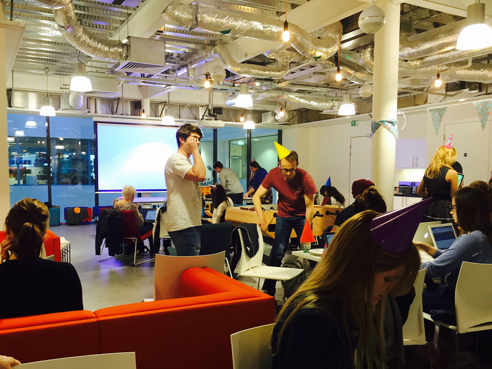 Codebar Brighton's first birthday at  Brandwatch