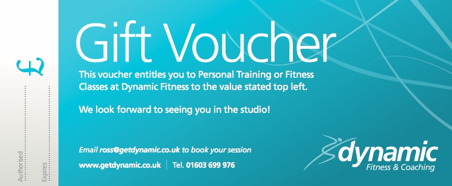 Gift Vouchers For Xmas Dynamic Fitness