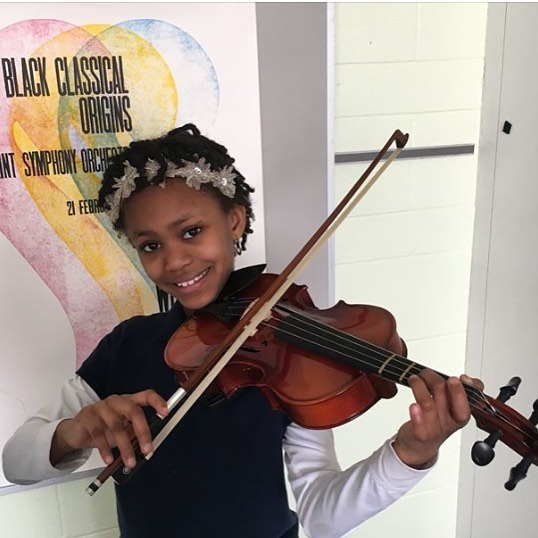 Meet Ivy, who just received a viola from our partnership with @elsistemausa and @detroityouthvolume ! Ivy has perfect attendance in her music classes and private lessons. Congrats Ivy on your new instrument! #socialchange #musiced #guitars4gifts #violinists #guitaristsofinstagram #detroit
