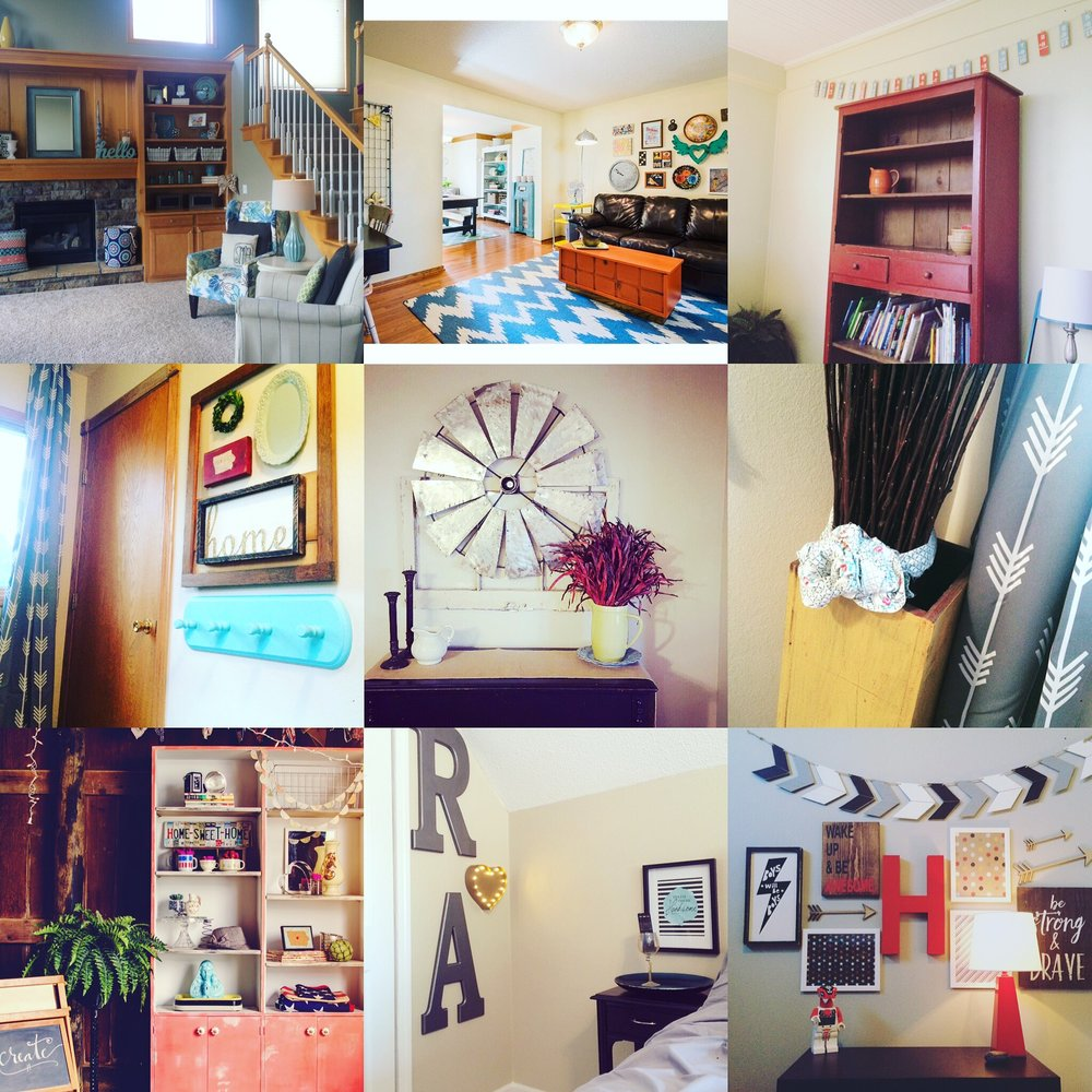 Collage of interior decorating projects. || RustopiaConsulting.com