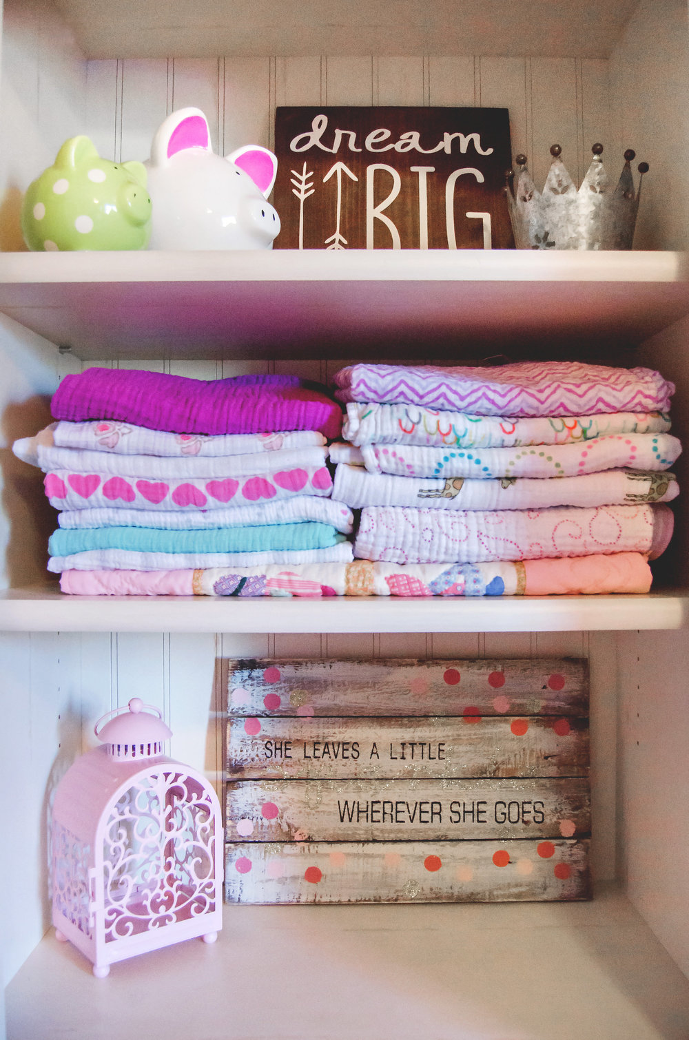 Baby blankets storage and nursery decor. | hprallandco.com